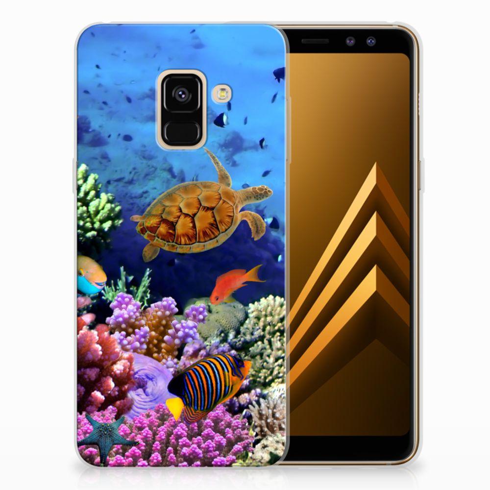 Samsung Galaxy A8 (2018) TPU Hoesje Design Vissen