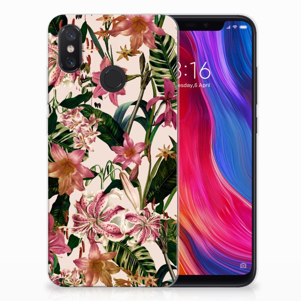 Xiaomi Mi 8 Uniek TPU Hoesje Flowers