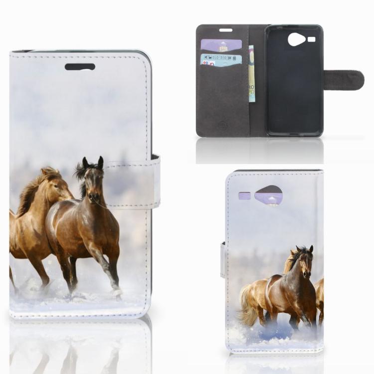 Acer Liquid Z520 Telefoonhoesje met Pasjes Paarden