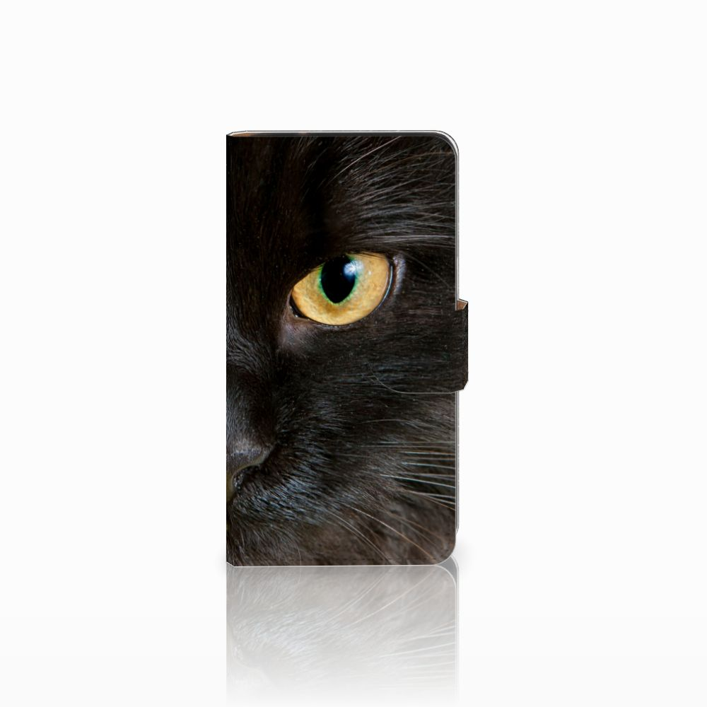 Samsung Galaxy J2 (2015) Uniek Boekhoesje Zwarte Kat