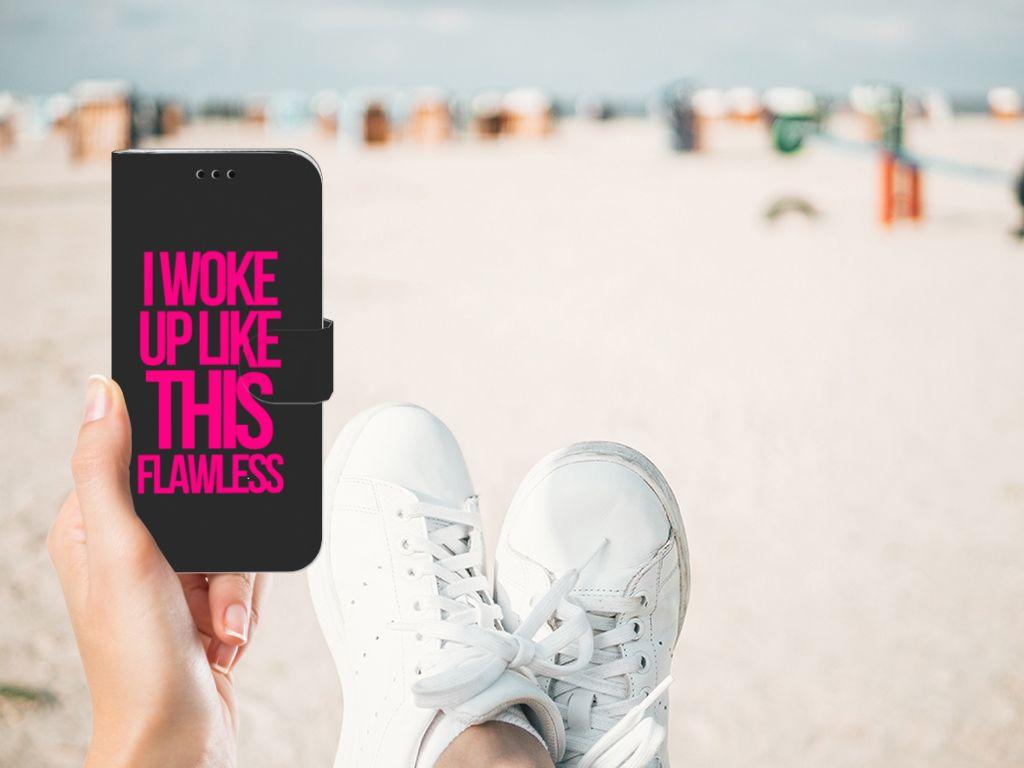 Samsung Galaxy J5 2017 Hoesje met naam Woke Up - Origineel Cadeau Zelf Maken