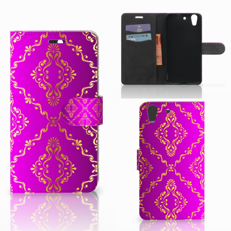Wallet Case Huawei Y6 II | Honor 5A Barok Roze