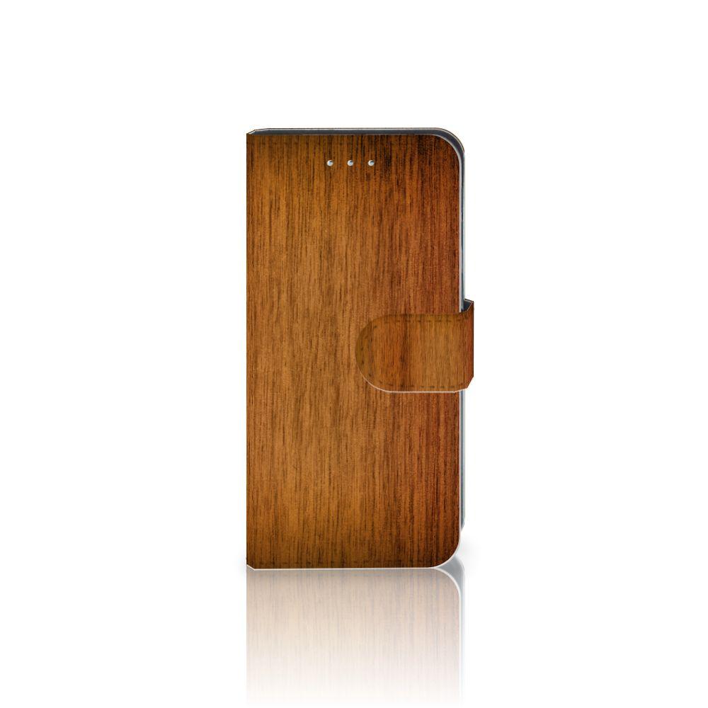 Samsung Galaxy S6 Edge Uniek Boekhoesje Donker Hout