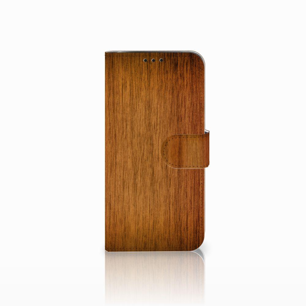 Xiaomi Pocophone F1 Uniek Boekhoesje Donker Hout