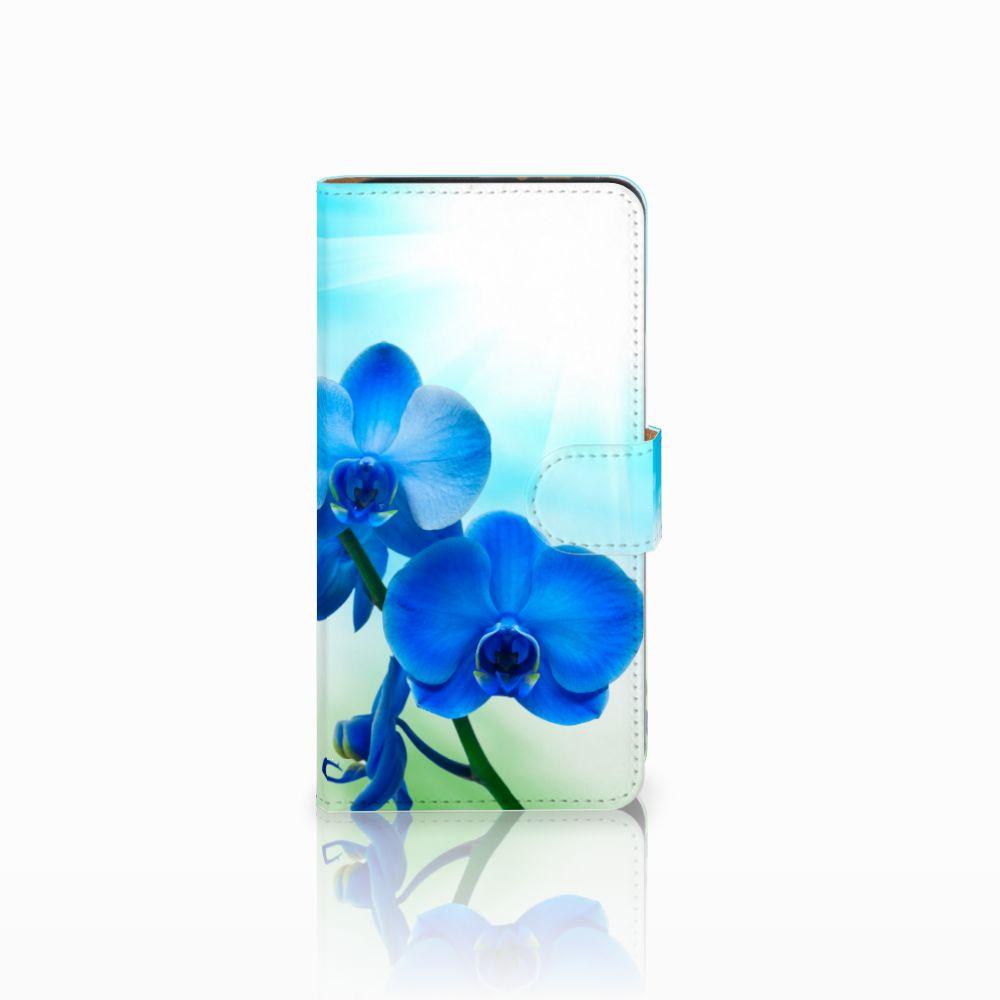 Wiko Lenny 3 Boekhoesje Design Orchidee Blauw