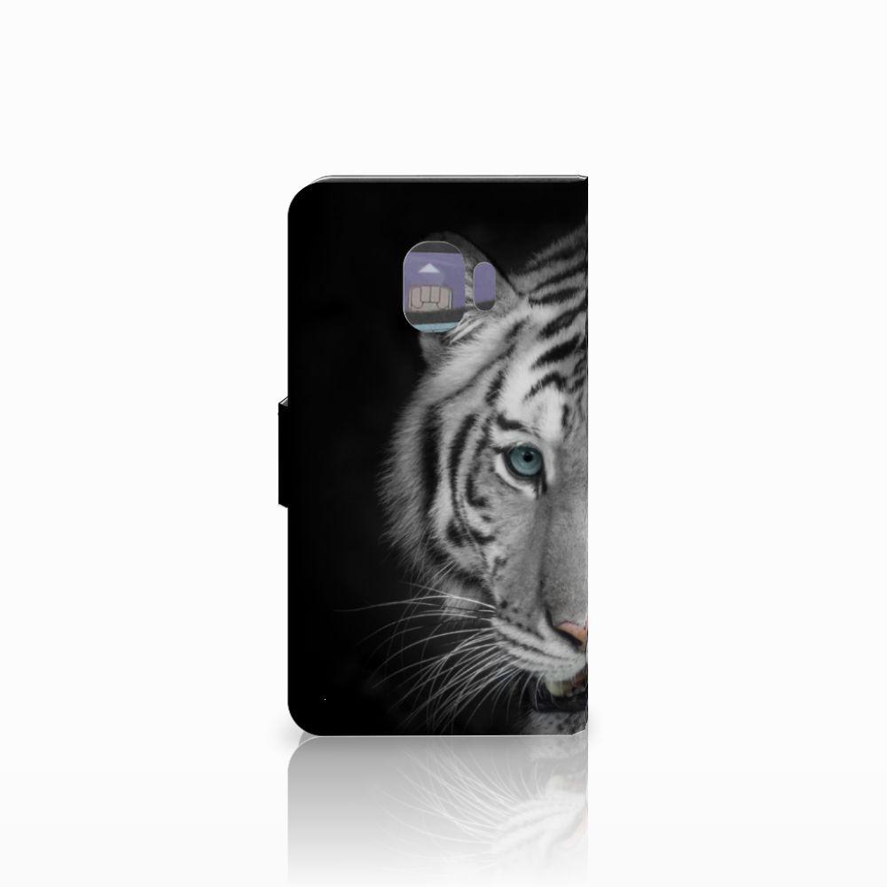 Samsung Galaxy J2 Pro 2018 Telefoonhoesje met Pasjes Tijger