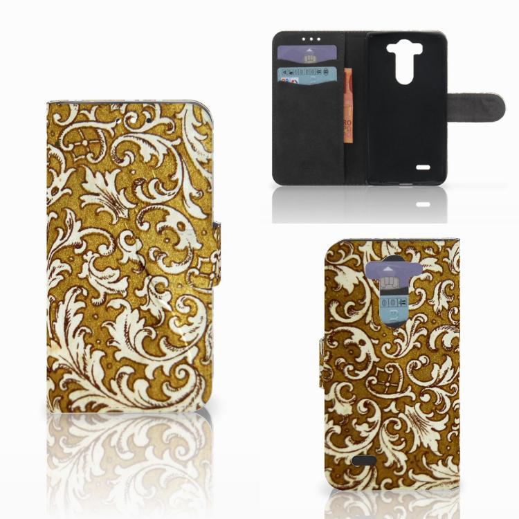 Wallet Case LG G3 S Barok Goud