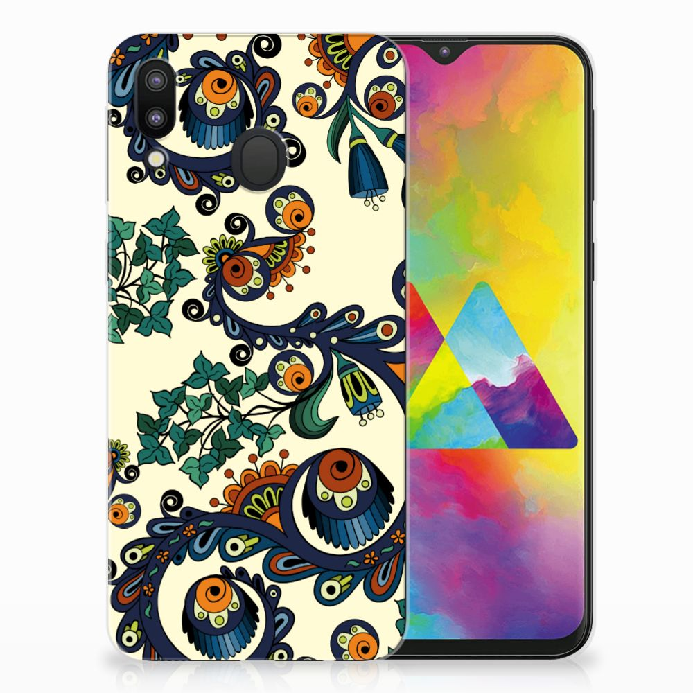 Samsung Galaxy M20 TPU Hoesje Design Barok Flower