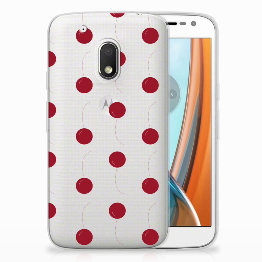 Motorola Moto G4 Play Siliconen Case Cherries