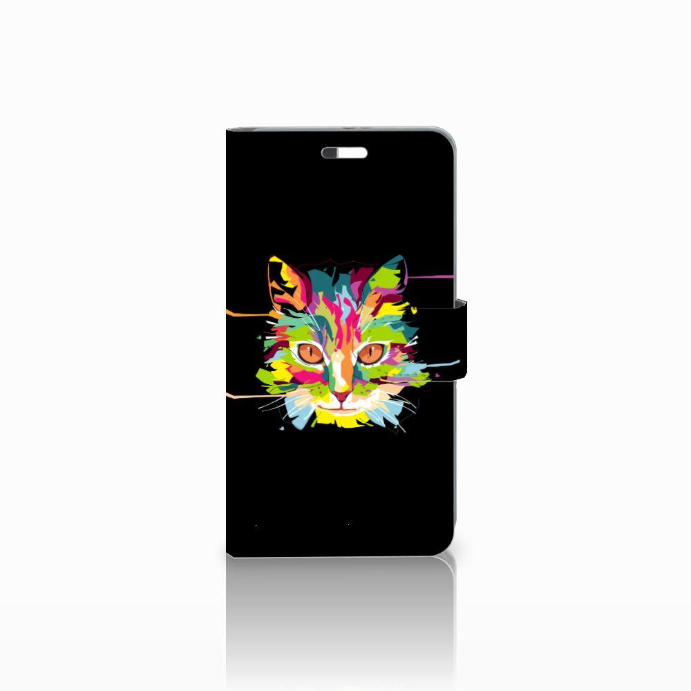 Huawei P9 Plus Uniek Boekhoesje Cat Color