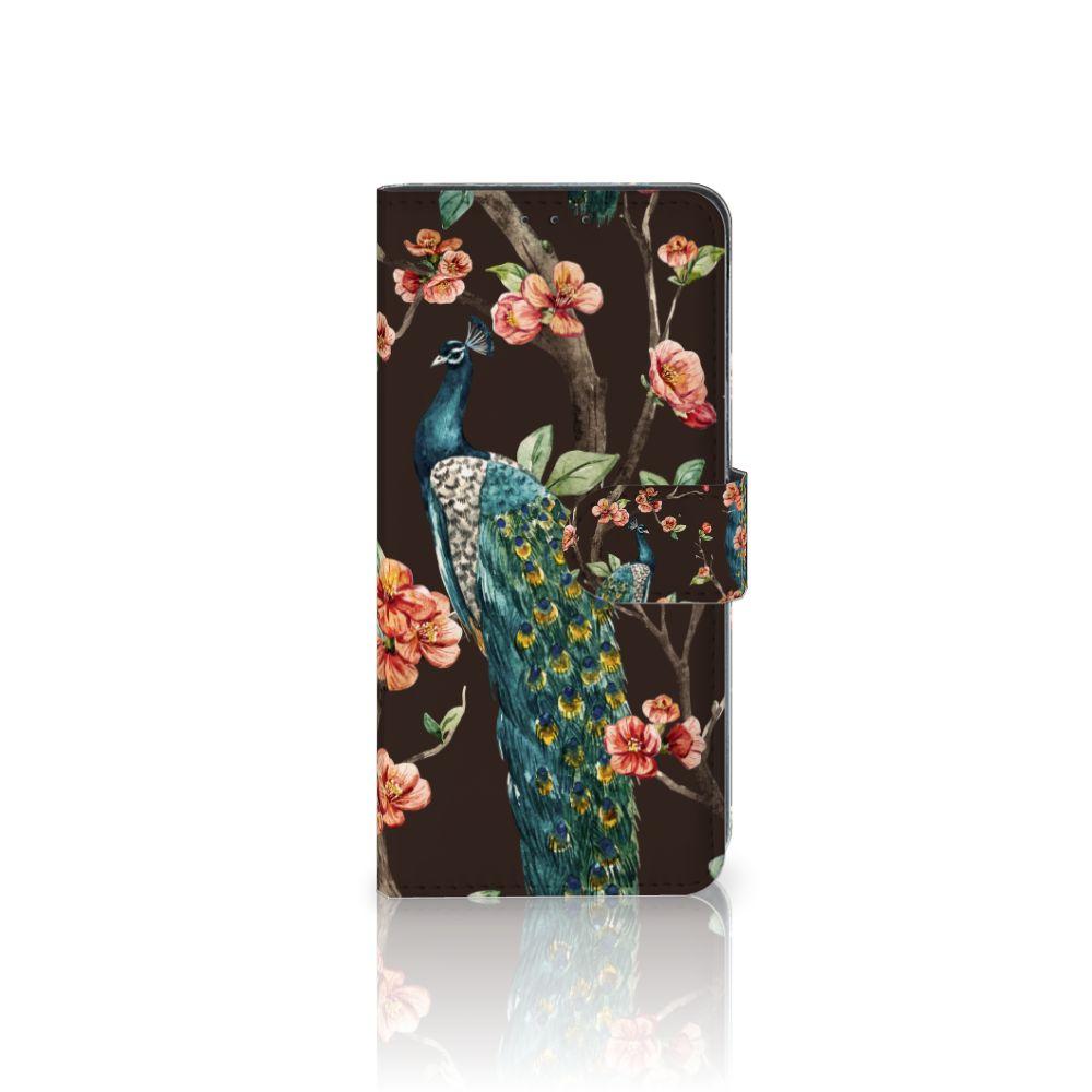 LG V40 Thinq Boekhoesje Design Pauw met Bloemen