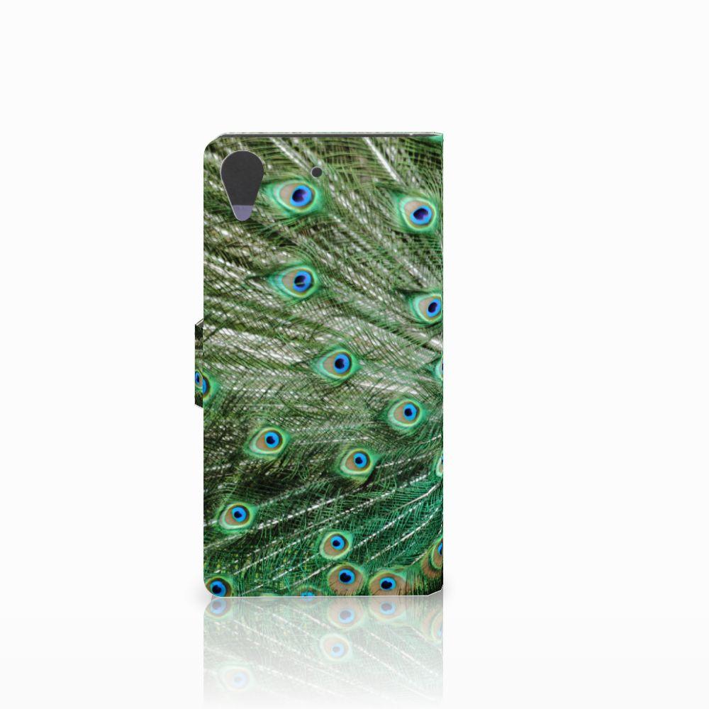 HTC Desire 628 Telefoonhoesje met Pasjes Pauw