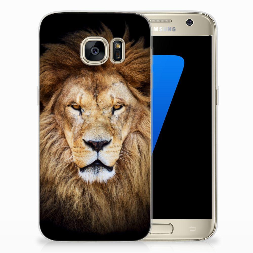Samsung Galaxy S7 TPU Hoesje Design Leeuw
