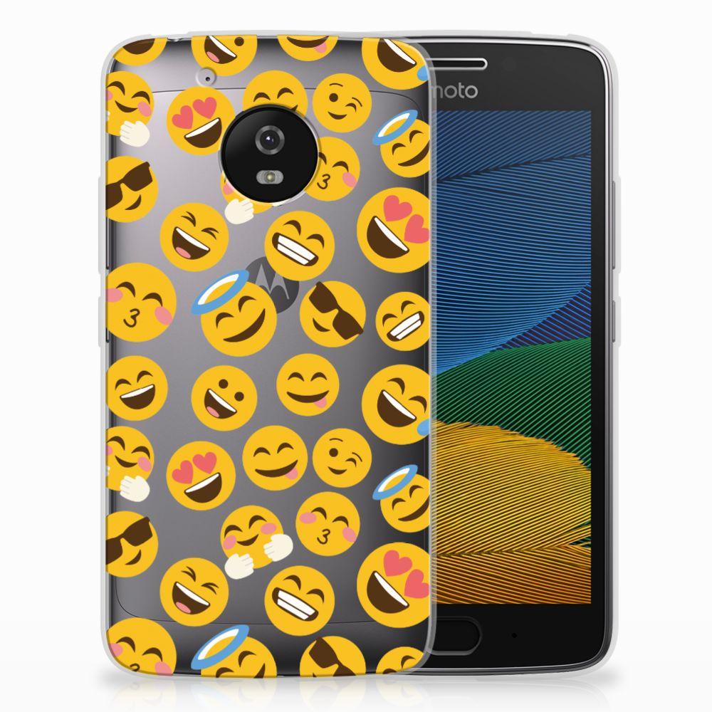 Motorola Moto G5 TPU Hoesje Design Emoji