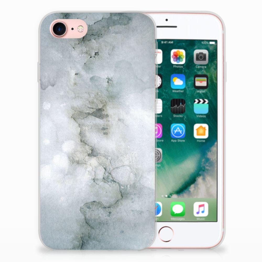 Apple iPhone 7 | 8 Uniek TPU Hoesje Painting Grey