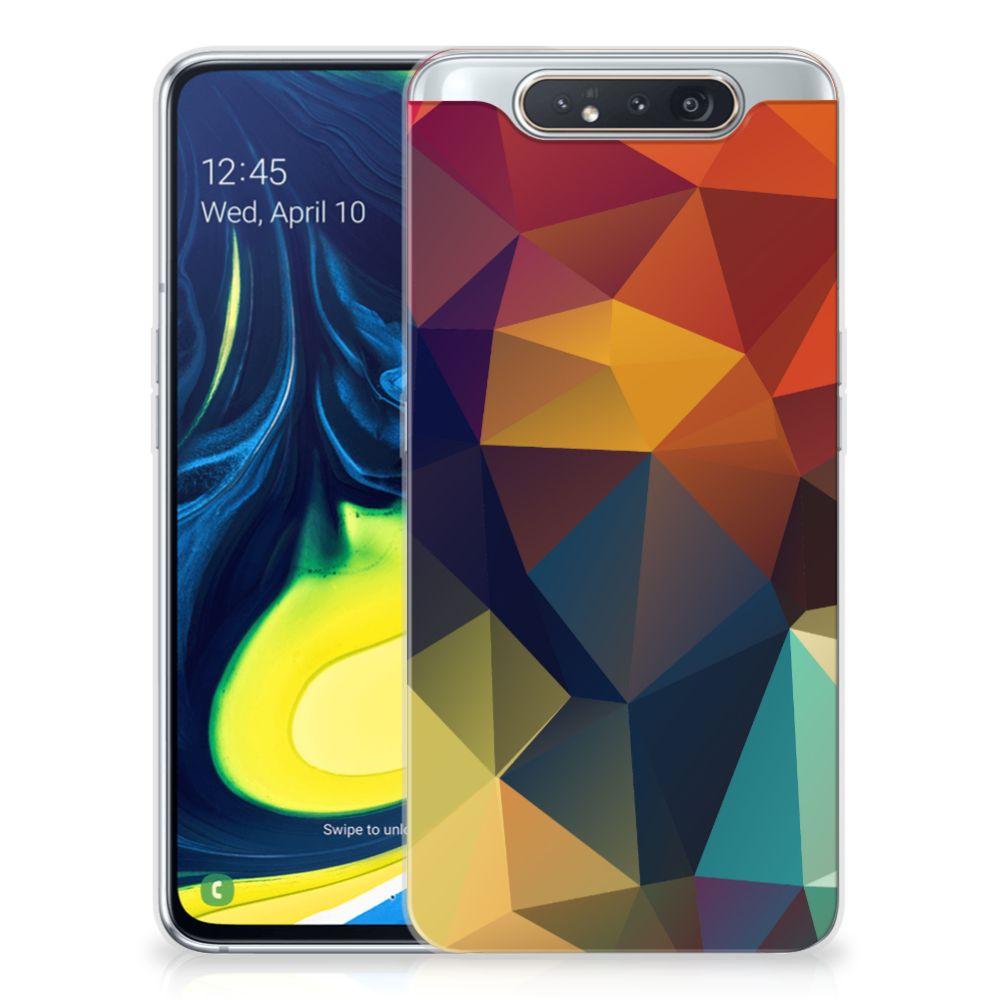 Samsung Galaxy A80 TPU Hoesje Polygon Color