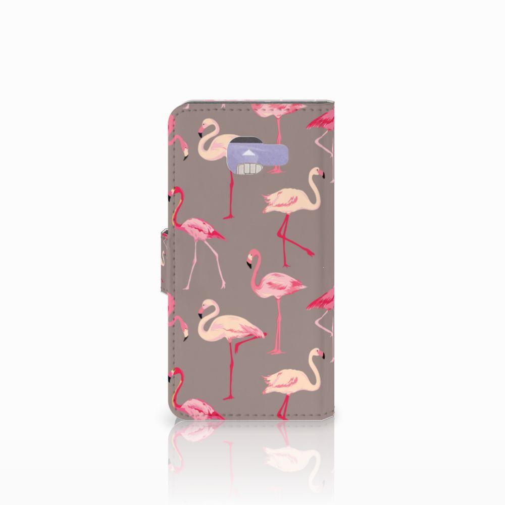 Samsung Galaxy A3 2016 Telefoonhoesje met Pasjes Flamingo