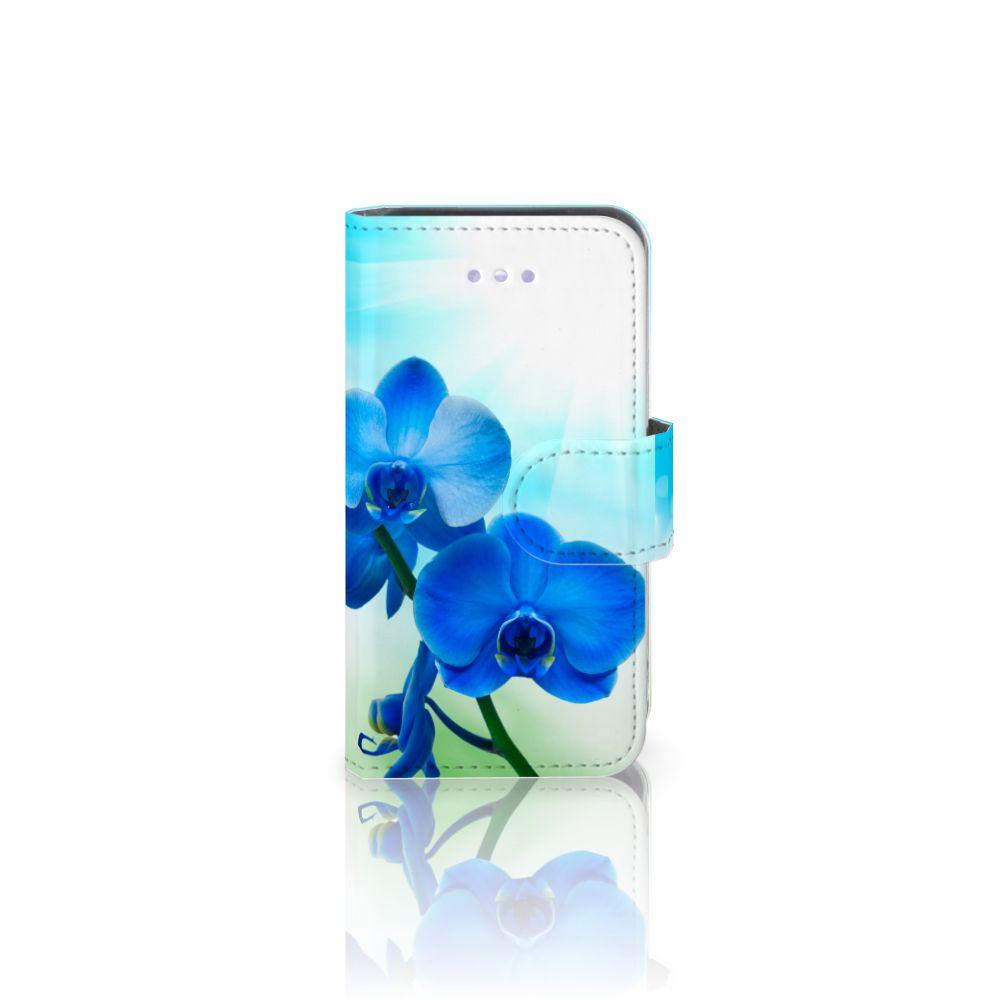 Apple iPhone 4 | 4S Boekhoesje Design Orchidee Blauw