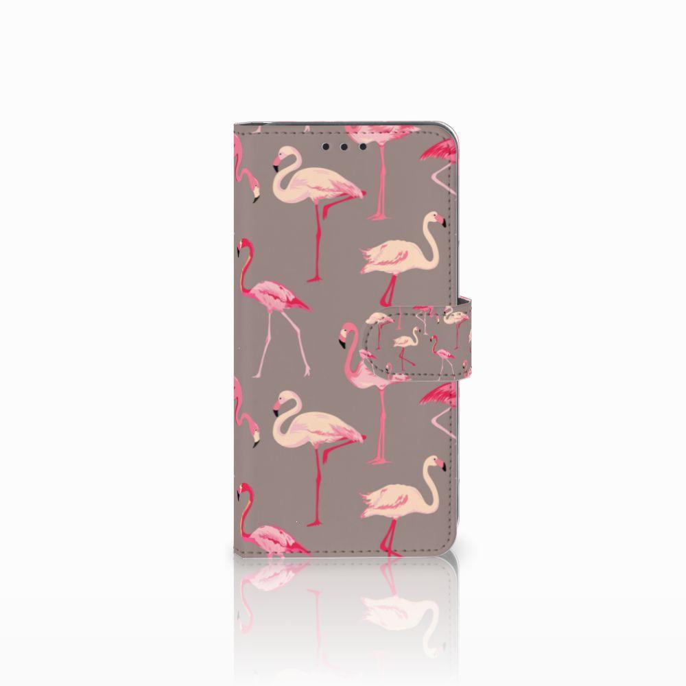 Samsung Galaxy A8 2018 Uniek Boekhoesje Flamingo
