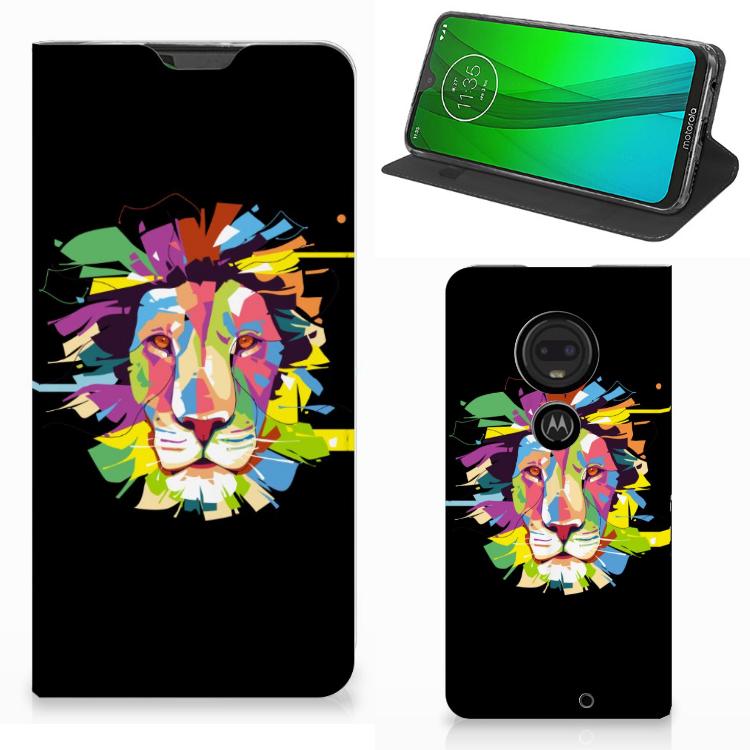 Motorola Moto G7 | G7 Plus Magnet Case Lion Color