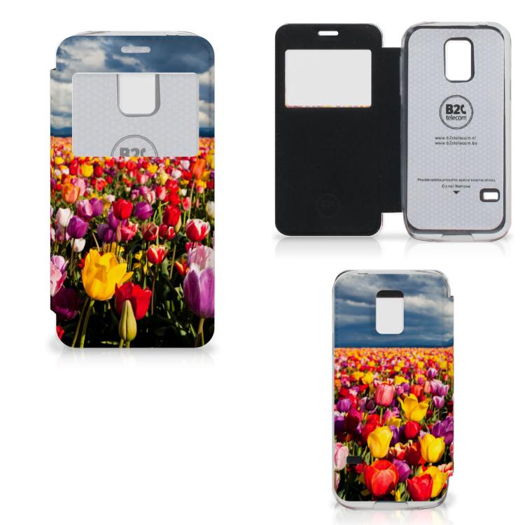 Samsung Galaxy S5 Mini Hoesje Tulpen
