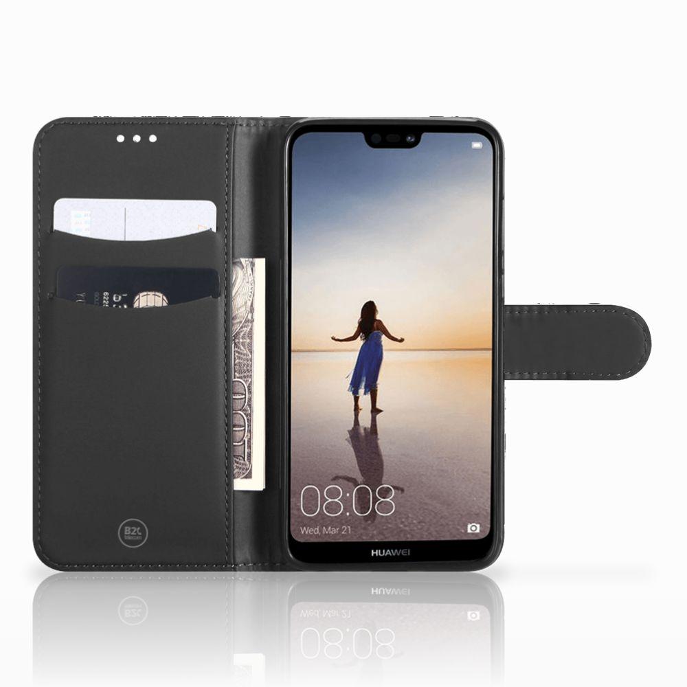 Telefoonhoesje met Naam Huawei P20 Lite Skull Red