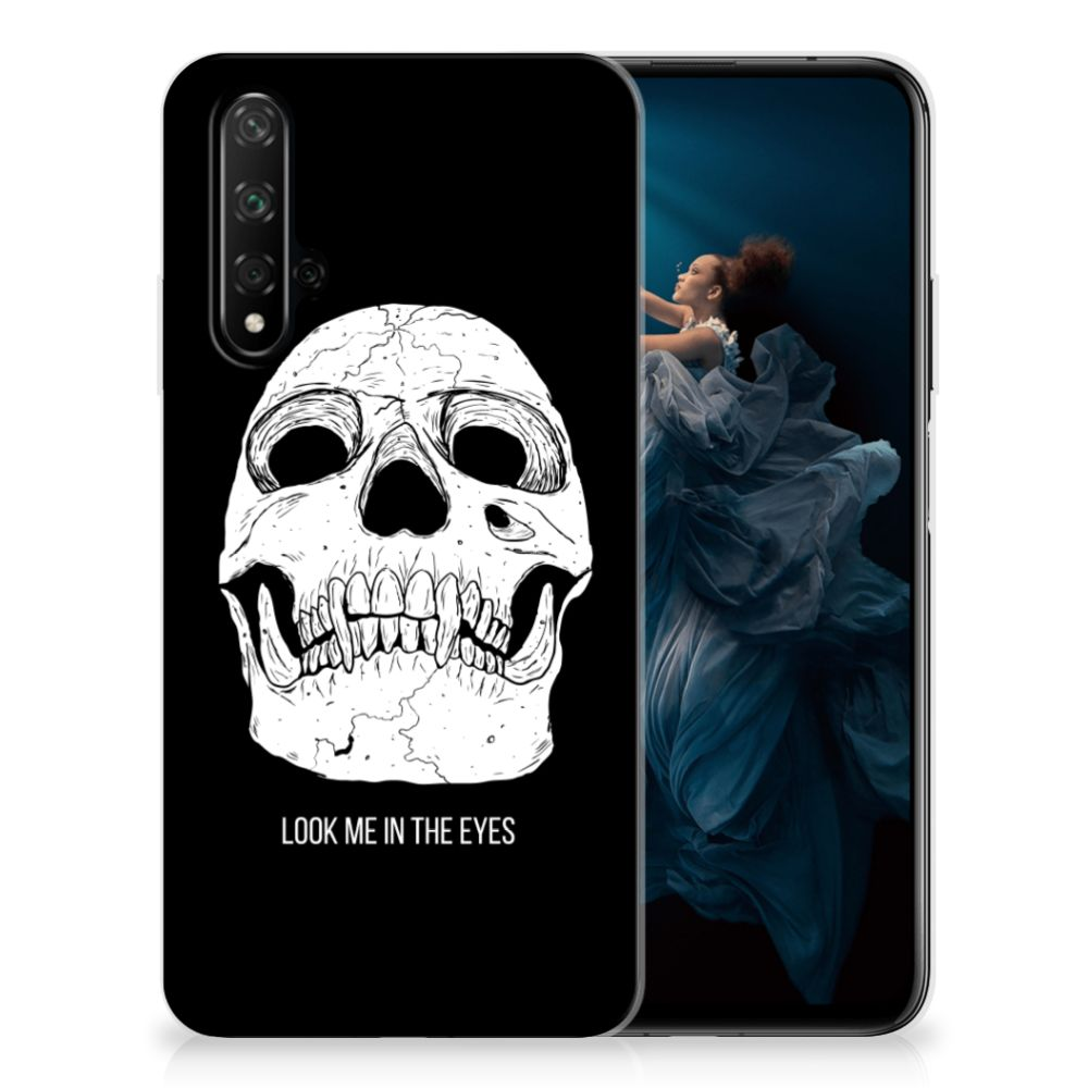 Silicone Back Case Honor 20 Skull Eyes