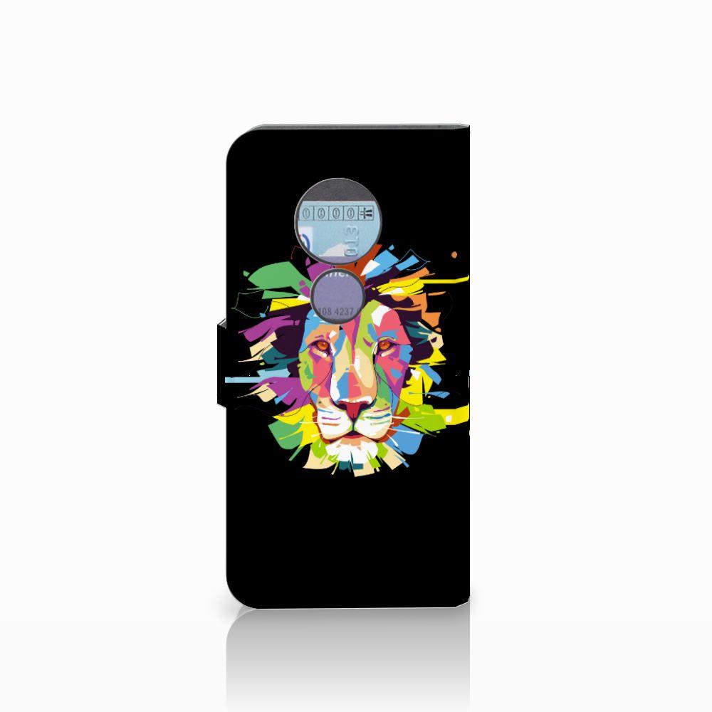 Motorola Moto G6 Play Leuk Hoesje Lion Color
