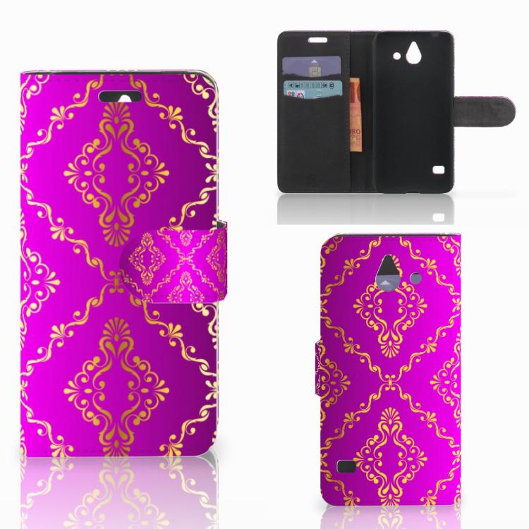 Wallet Case Huawei Ascend Y550 Barok Roze
