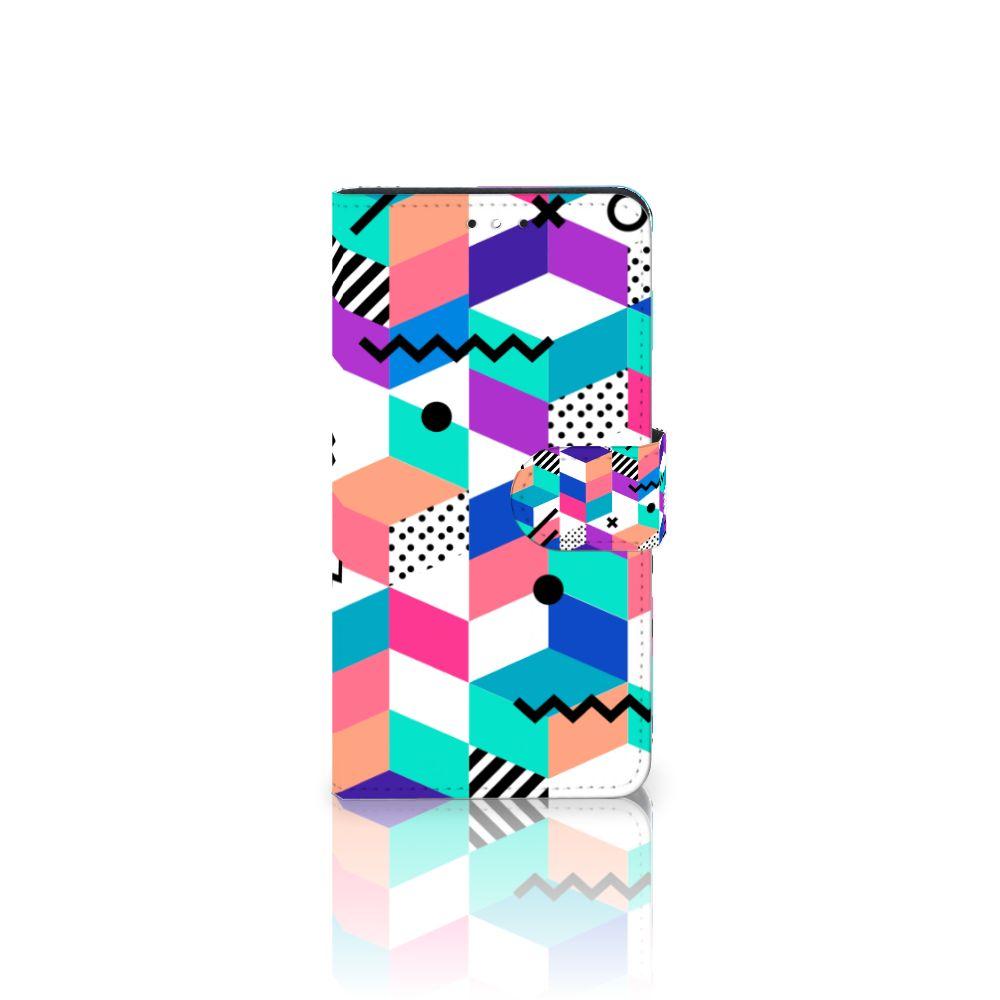 Motorola Moto G5S Plus Bookcase Blokken Kleurrijk