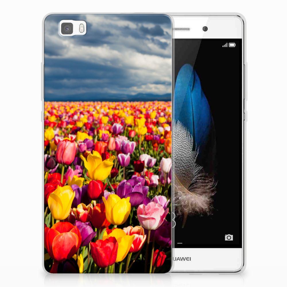 Huawei Ascend P8 Lite Uniek TPU Hoesje Tulpen