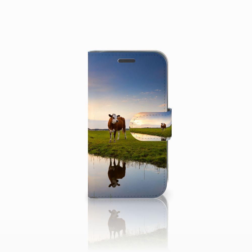Samsung Galaxy J1 2016 Boekhoesje Design Koe