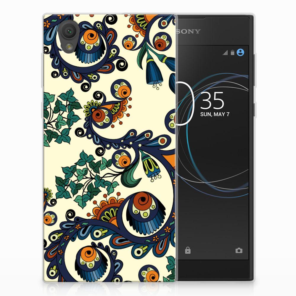 Siliconen Hoesje Sony Xperia L1 Barok Flower