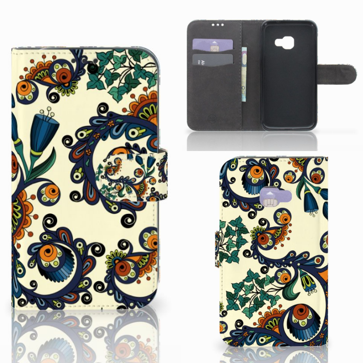 Wallet Case Samsung Galaxy Xcover 4   Xcover 4s Barok Flower