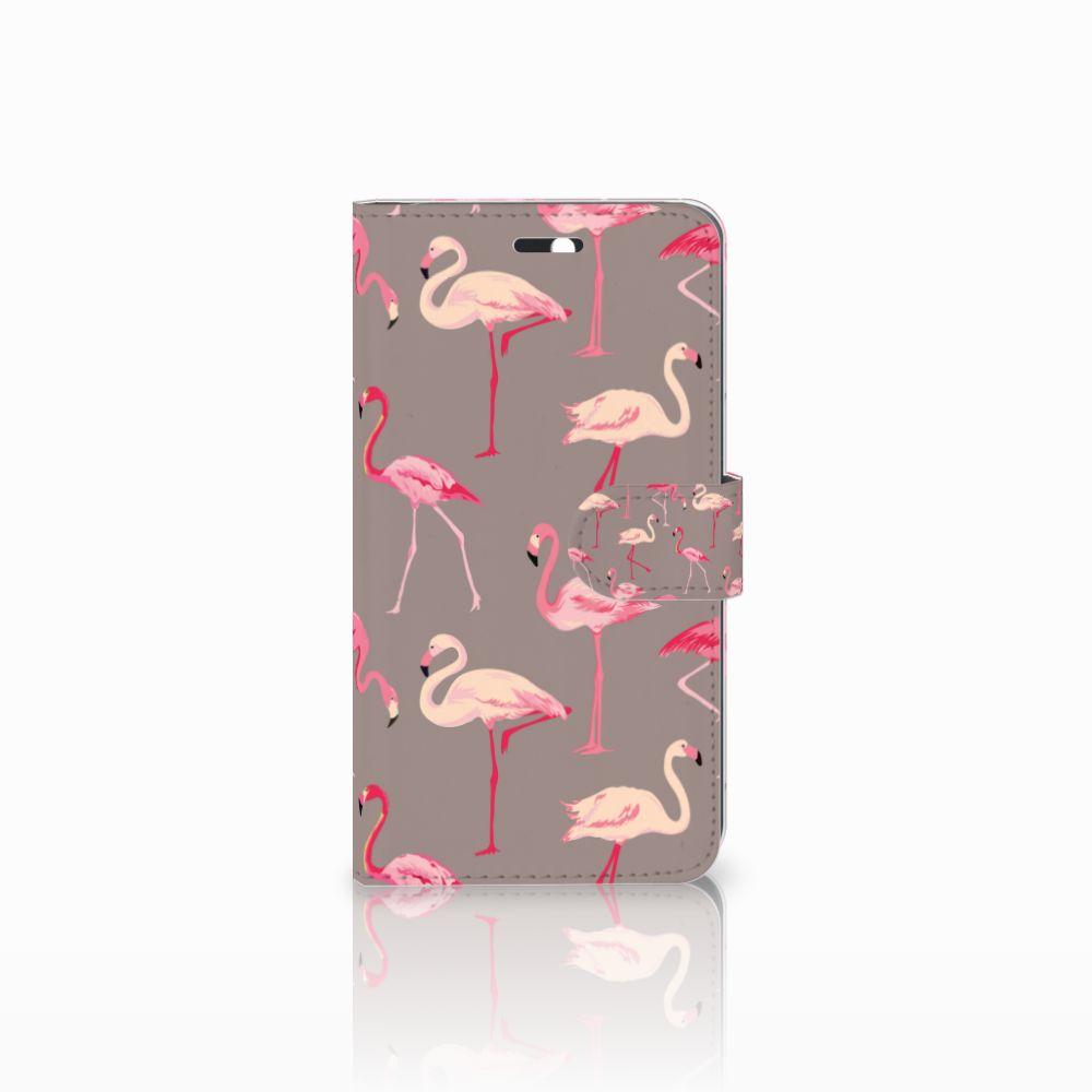 Huawei Y6 II | Honor 5A Uniek Boekhoesje Flamingo