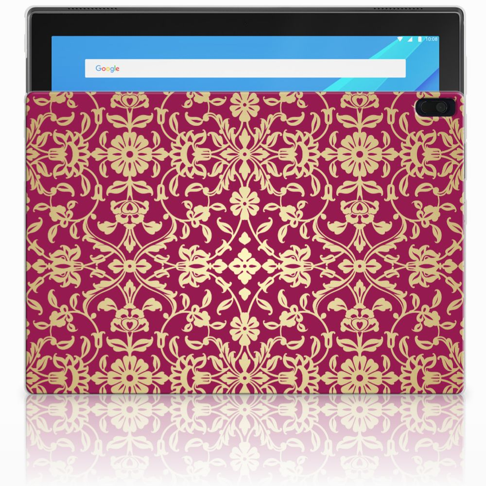 Lenovo Tab 4 10.1 Tablethoesje Design Barok Pink