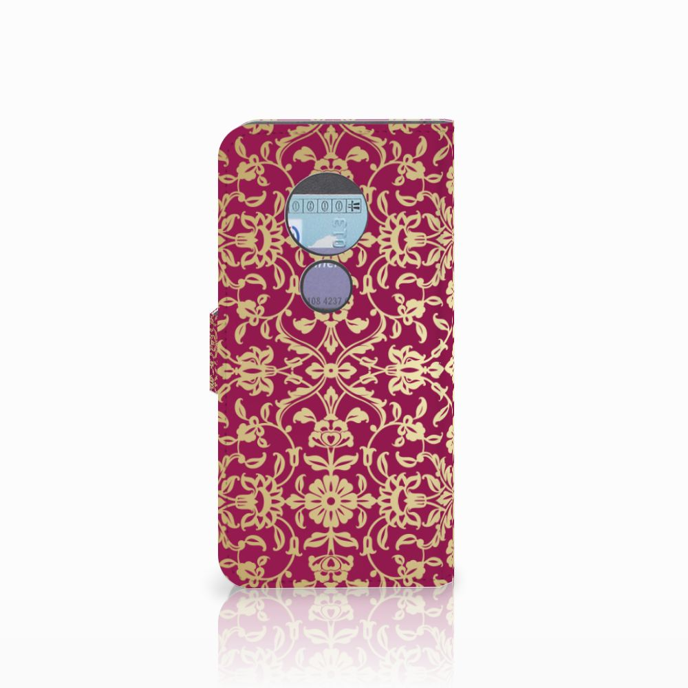 Wallet Case Motorola Moto G6 Play Barok Pink