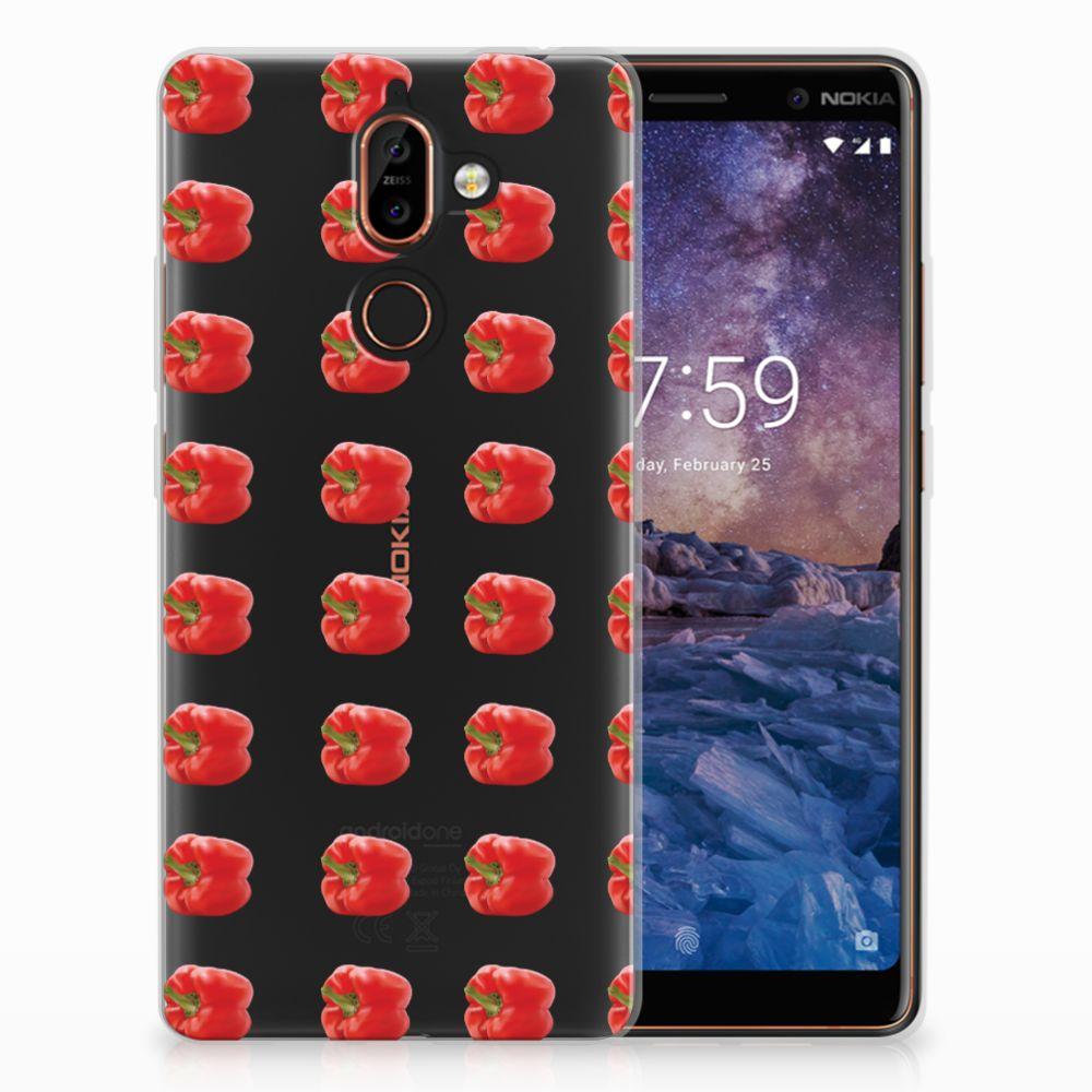 Nokia 7 Plus Siliconen Case Paprika Red