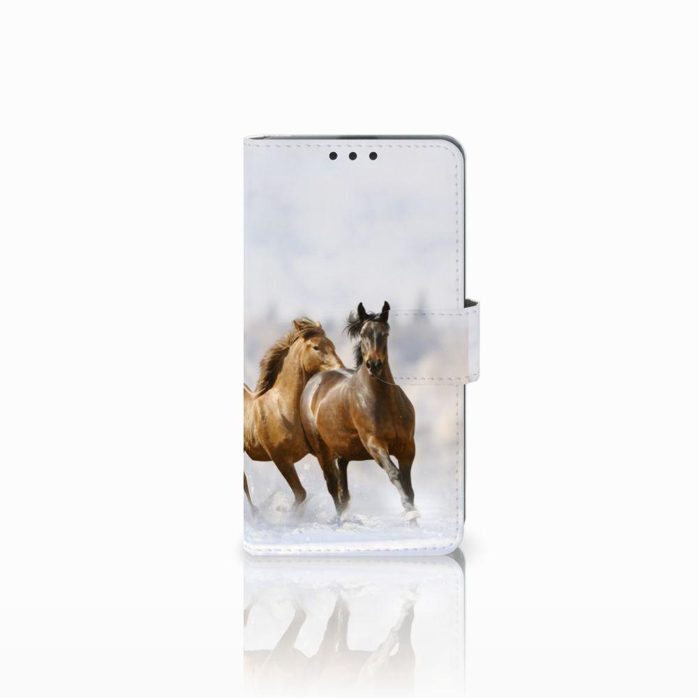 Microsoft Lumia 535 Uniek Boekhoesje Paarden