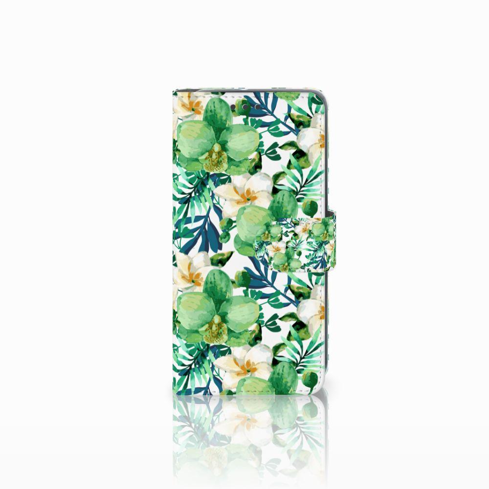 HTC U11 Life Uniek Boekhoesje Orchidee Groen