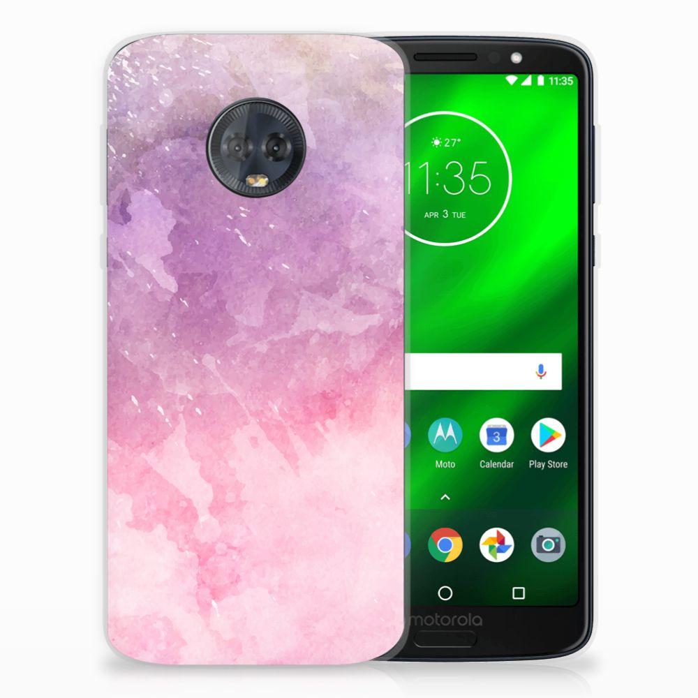 Hoesje maken Motorola Moto G6 Plus Pink Purple Paint