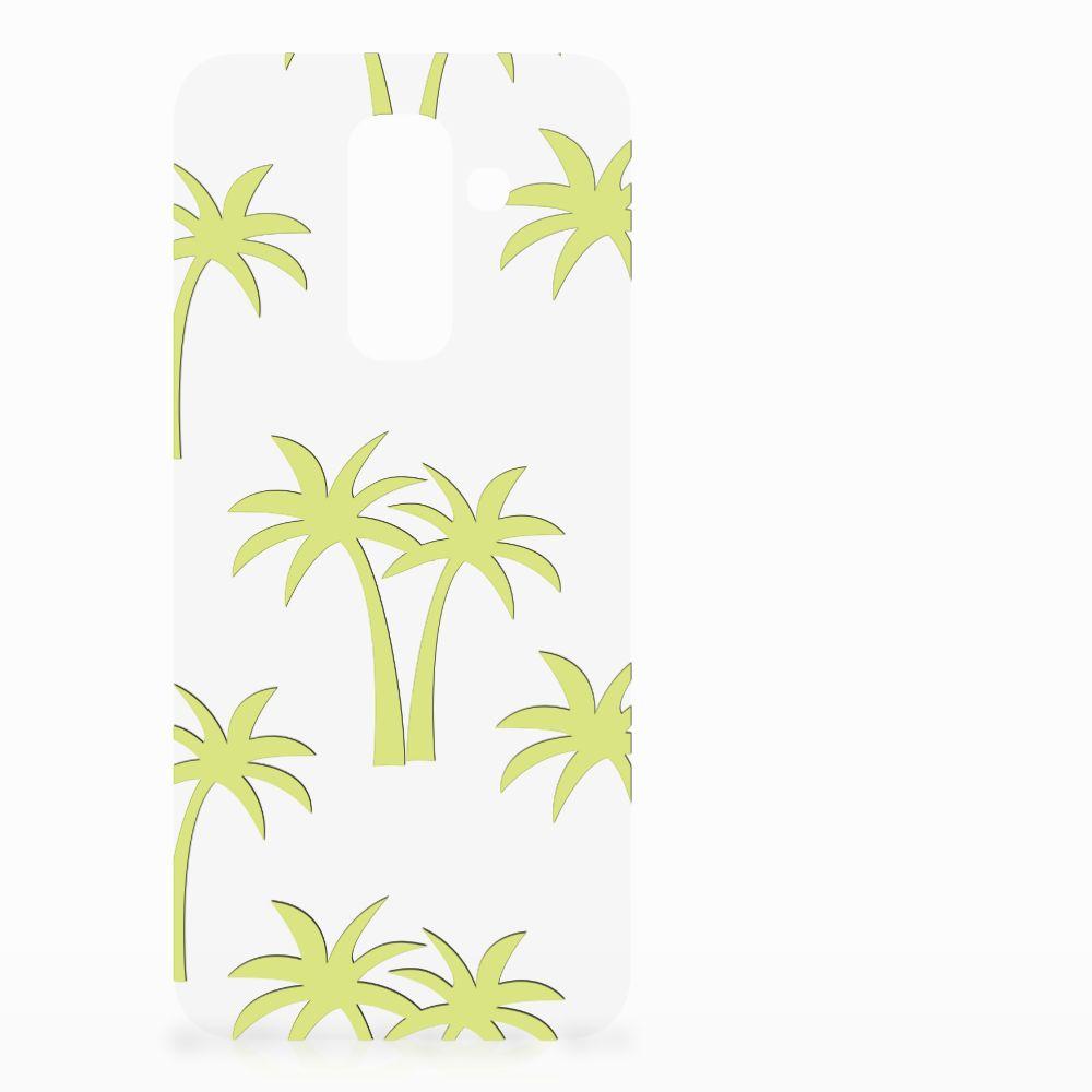 Samsung Galaxy A6 Plus (2018) Uniek TPU Hoesje Palmtrees