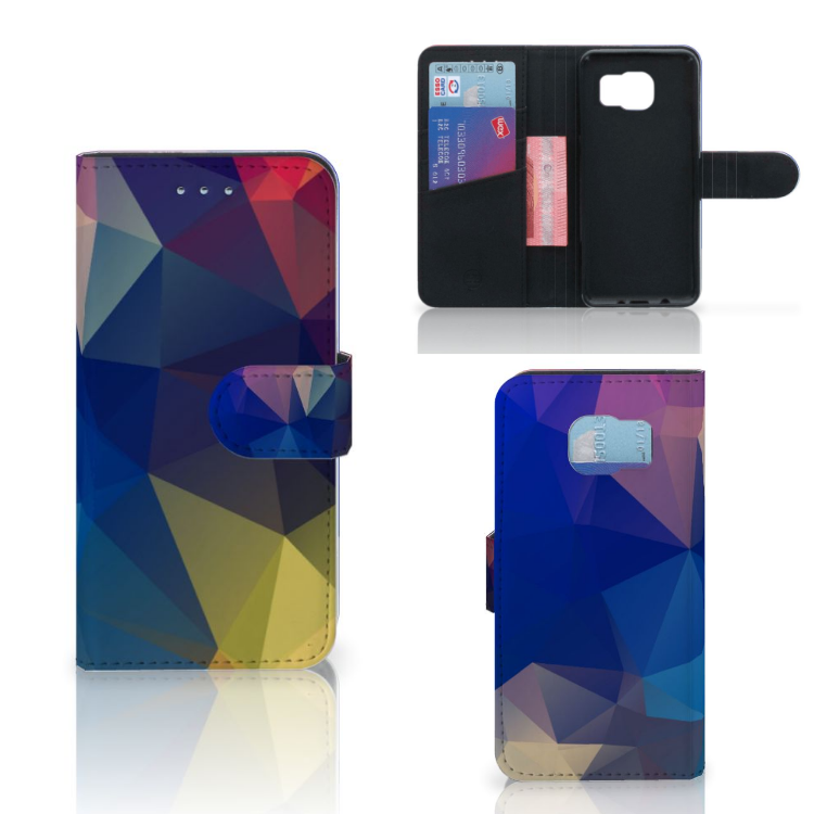 Samsung Galaxy S6 | S6 Duos Bookcase Polygon Dark