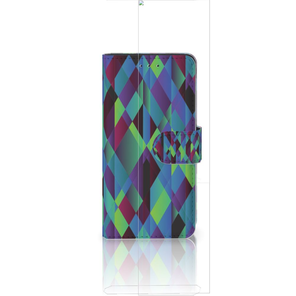 Huawei P20 Bookcase Abstract Green Blue