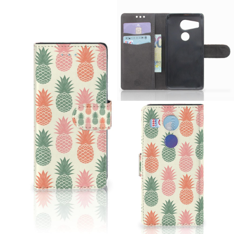 LG Nexus 5X Book Cover Ananas