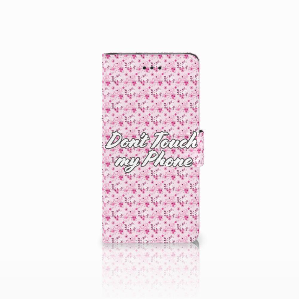 Huawei Y3 2017 Uniek Boekhoesje Flowers Pink DTMP