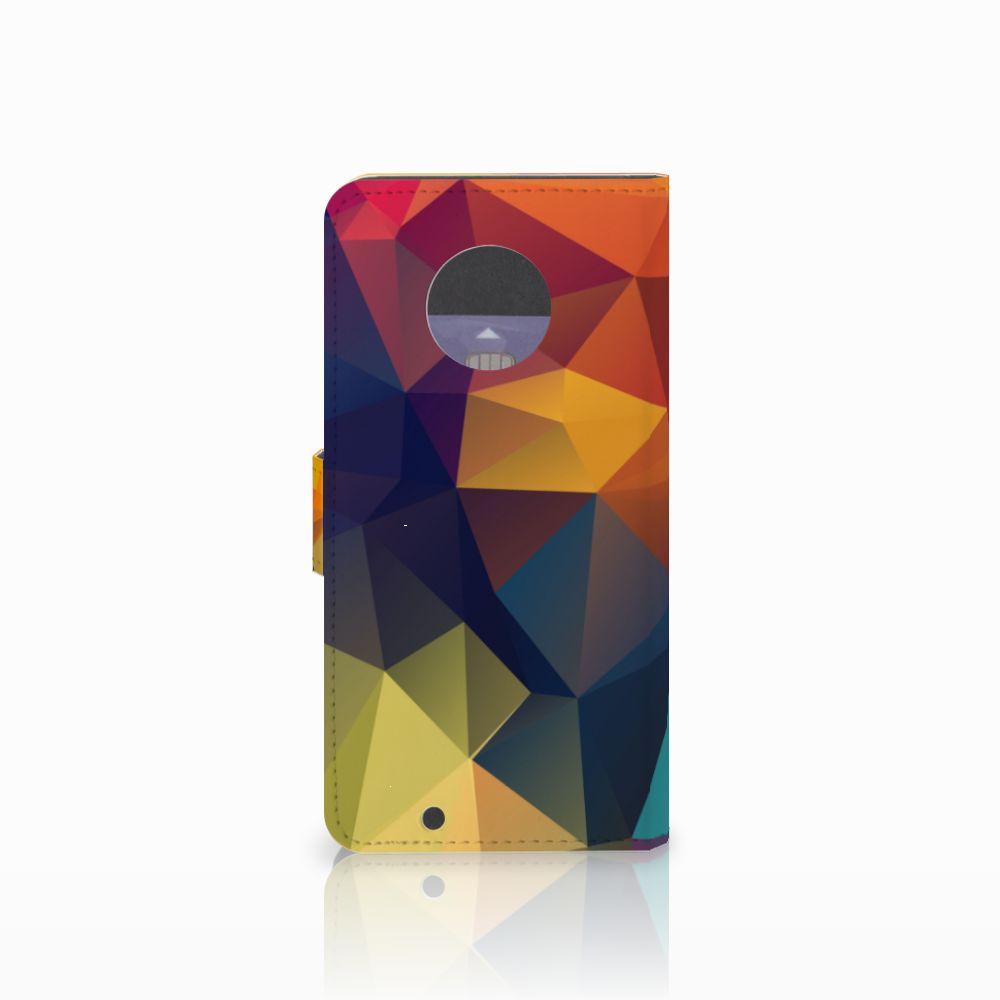 Motorola Moto G6 Bookcase Polygon Color