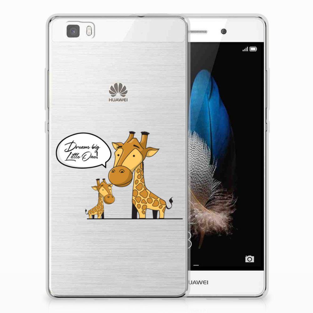 Huawei Ascend P8 Lite Uniek TPU Hoesje Giraffe