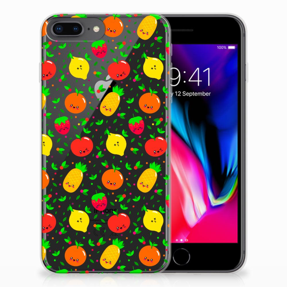 Apple iPhone 7 Plus | 8 Plus Siliconen Case Fruits