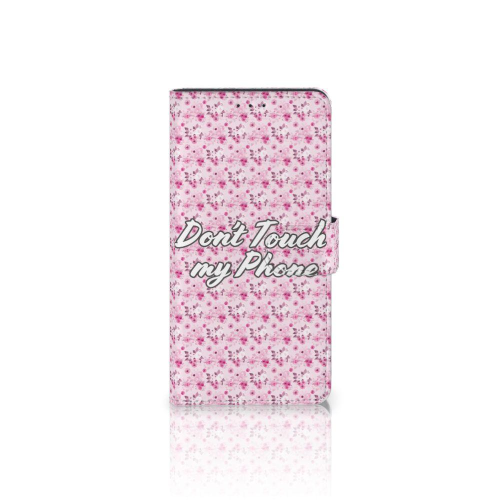 Motorola Moto Z Play Uniek Boekhoesje Flowers Pink DTMP